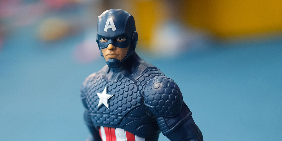 Captain America action figure closeup