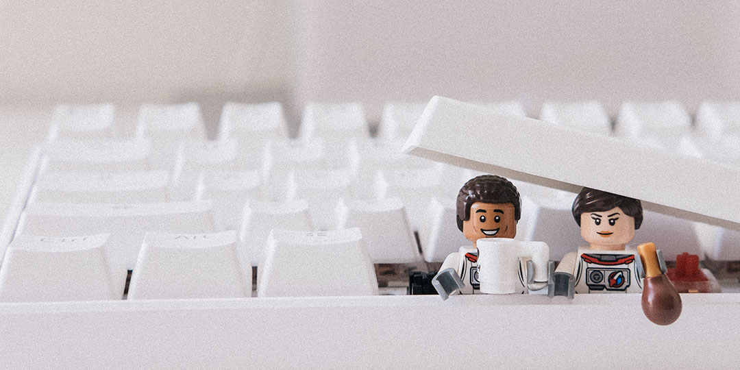 Lego figures with a keyboard
