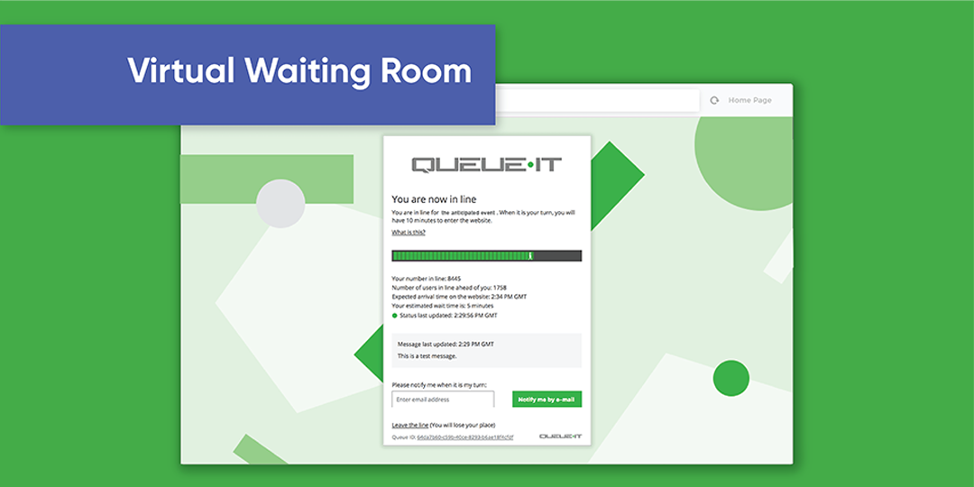 How does Queue-it's virtual waiting room work