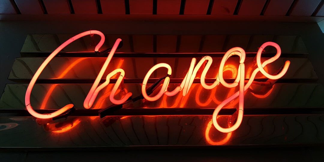 change neon orange sign