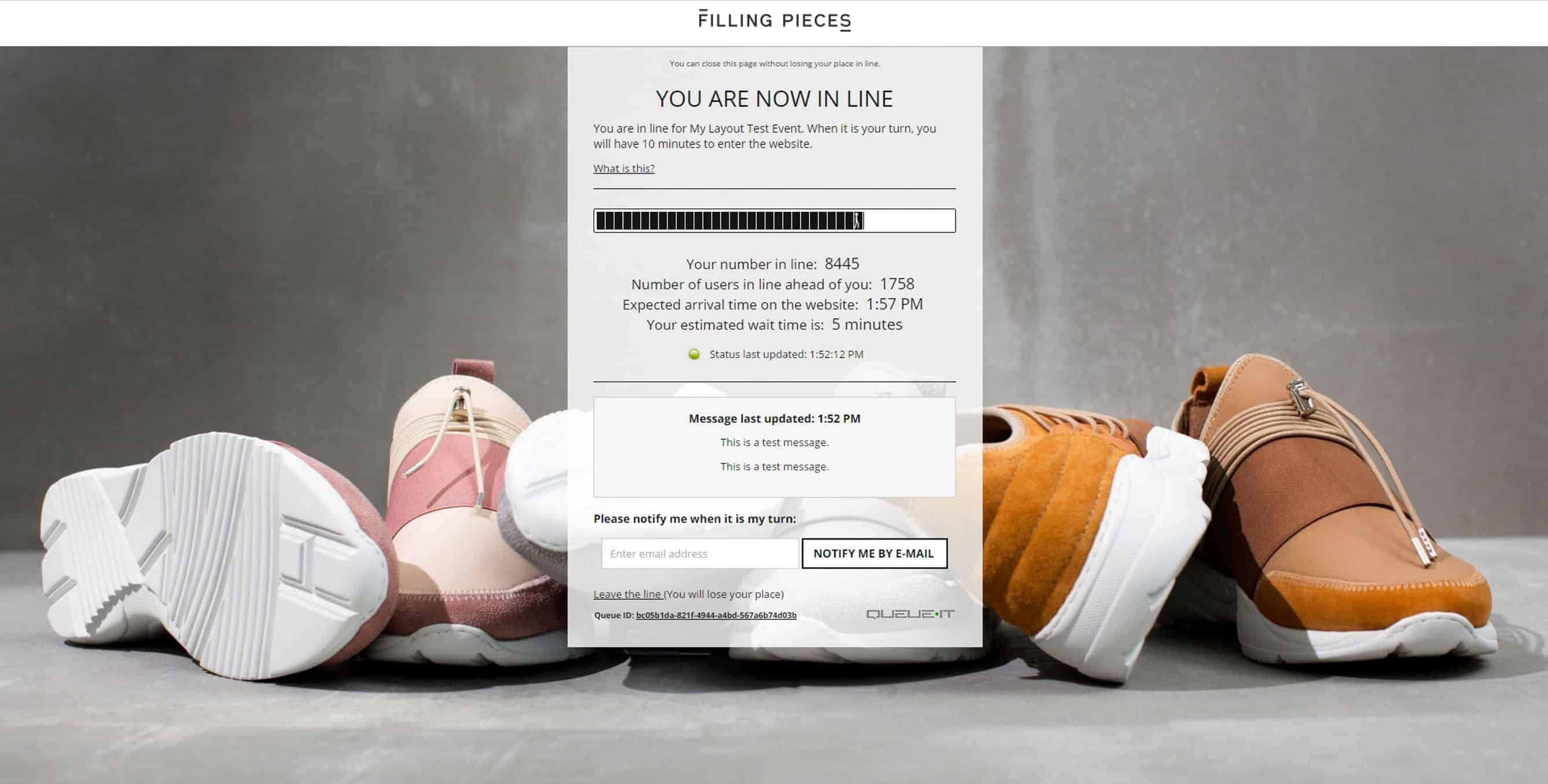 Filling Pieces queue page shows line numbers crucial to activate the bandwagon effect