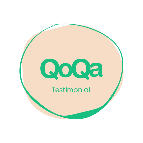 qoqa testimonial and logo