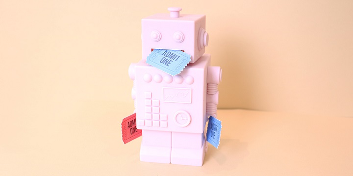 pink ticket bot with tickets