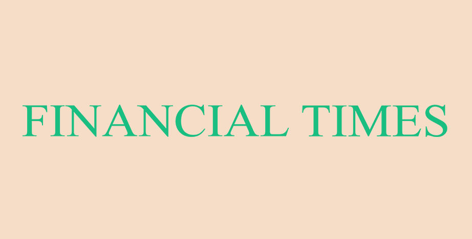 Financial Times logo on beige background